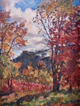 Rudolf Scheffler Landscape Oil On Canvas