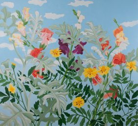 Janet Alling Oil On Canvas Floral