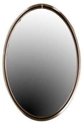 Turner Mid-century Oval Wall Mirror
