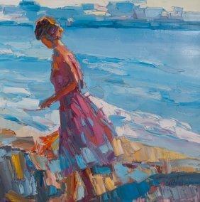 "Nicola Simbari ""ida"" Acrylic On Canvas"