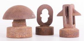Cast Iron Sculptures/ Paperweights, Three (3)