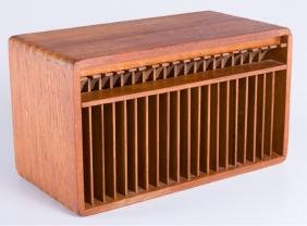 Teak Wood CD Holder / Organizer