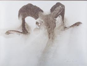 "James Bama ""Sheep Skull In Drift"" Lithograph"