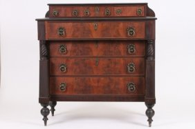 AMERICAN SHERIDAN CHEST OF DRAWERS