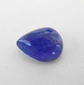Tanzanite Cabochon Pear Shape 2.95ct 10x7.7x4.5 Mm
