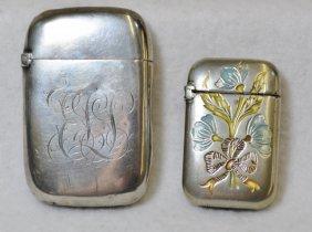 1920s Frank Whiting Sterling Vesta, + 800 German Silver