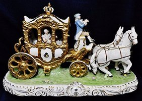 1960s Sandizell Dresden Style Hp Porcelain Carriage