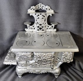 Excellent 1920's Acme Ornate Nickle Plated Stove