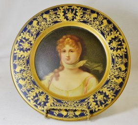 1905 Vienna Prussian Queen Louise Tin Litho Beer Tray