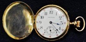 Waltham 1900 Ladies 14k Gold Watch Working 15 Jewel