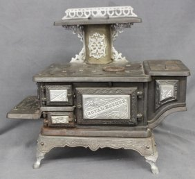Rare Mt Penn Works Royal Esther Nickel Plated Stove