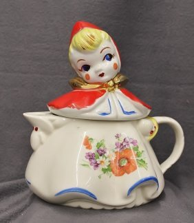 Classic Hull 1950's Little Red Riding Hood Teapot