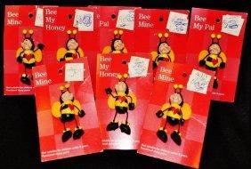 Russ Love Bug Pins 8 Pcs Bee My Honey Pal Mine