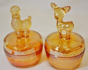 1920s Jeanette Marigold Carnival Poodle & Fawn Boxes