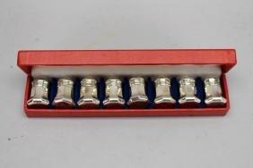 Signed Cartier Sterling Salt/Pepper Sets