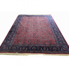 Room Sized Semi Antique Sarouk Rug