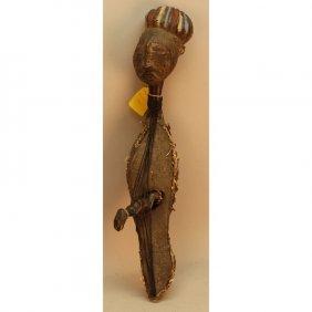 Rare Antique Mangbeta (zaire) Terracotta Harp
