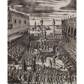 Giacomo Franco (italy, 1550 - 1620) Etching