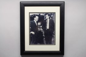 John F. Kennedy & Frank Sinatra Framed Photo