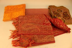 Lot Of Antique Textiles From India