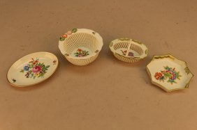 (4) Herend Porcelain Dishes
