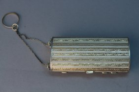 Austrian Gilt Sterling Silver Compact Case