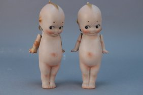 (2) Antique Bisque Dolls