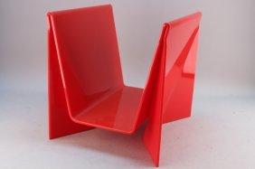 Mid Century Modern Lucite Magazine Stand
