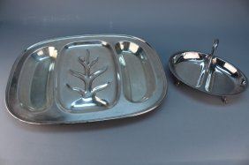 Lot Of (2) Silverplate Trays