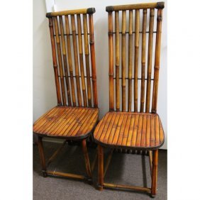 (20th C.) Faux Bamboo Chairs