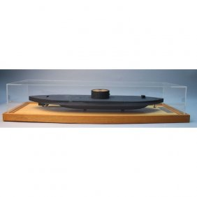 Uss Monitor War Ship W/ Acrylic Display Case