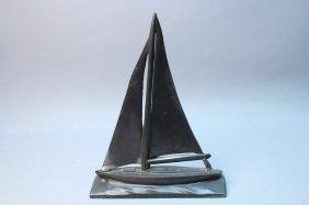 Bronze Sailboat Sculpture