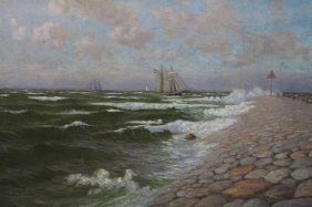 20th C. American Coastal Scene
