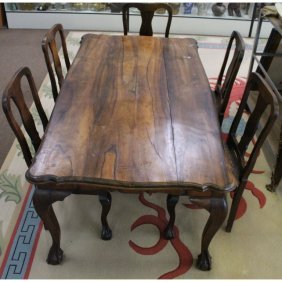 South African Stinkwood Dining Table, Chairs