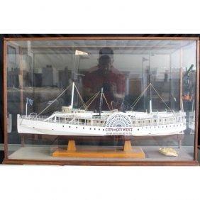 Model Of Steamer Ship 'city Of Key West'