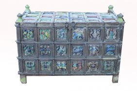 Exceptional Early 19th C. Indian Dowry Chest