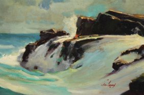 John Landry (louisiana, 1912 - 1986) Seascape