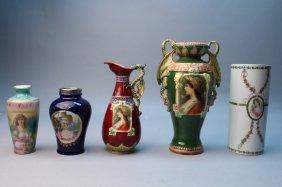 (5) Figural Porcelain Vases