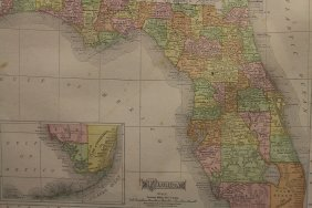 1909 Rand, Mcnally & Co. Florida Map