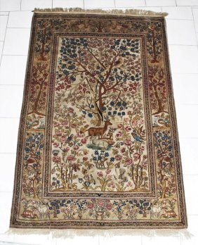 Carpet With The Motif Of The Garden Of Eden
