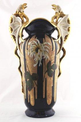 Art Nouveau Vase Amphora Trnovany