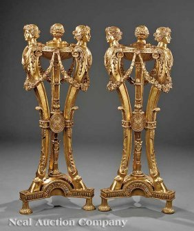 Pair Of George II-Style Gilt Ath�niennes