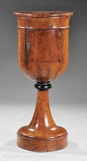 Biedermeier Inlaid Mahogany Urn-Form Commode