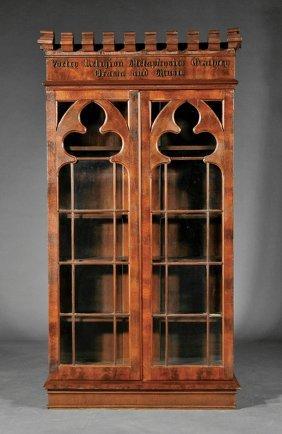 Gothic Walnut Bookcase Attr Crawford Riddell Lot 524