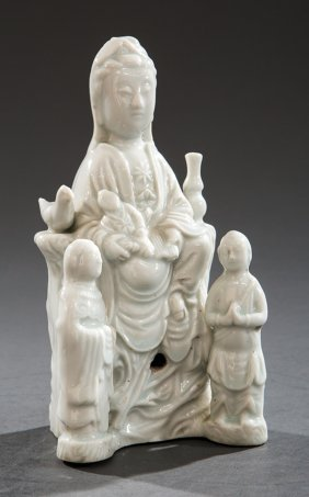 "Chinese ""blanc De Chine"" Porcelain Of Guanyin"
