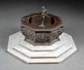 Italian Grand Tour Patinated Bronze Fountain