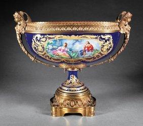 Gilt Bronze-mounted Porcelain Centerpiece