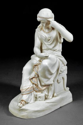 Copeland Parian Figure Of A Classical Maiden