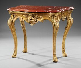Regence-style Giltwood Console