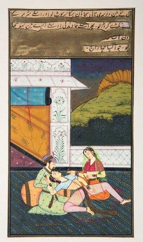 Indo-persian School Illuminated Manuscript Leaves